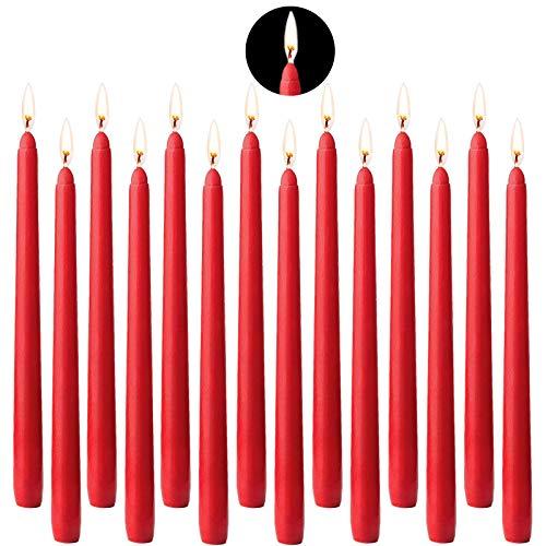 Candelabros Decorativos De Velas Rojo candelabros decorativos de velas  Marca BEYAOBN