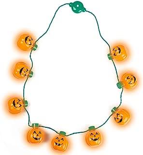FuturePlusX Pumpkin Light-up Necklace, Halloween Pumpkin Necklace Flashing Light Up Pumpkin Halloween Necklace