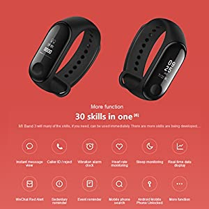 Xiaomi Mi Band 3Smart Pulsera Fitness Tracker Pulsómetro sofortnachr vacío recibas Alarma Resistente al Agua 5ATM OLED Pantalla táctil Previsión meteorológica 3