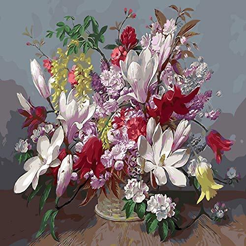 zlhcich Digitale malerei palast Blume Landschaft Wohnzimmer Dekoration malerei System Q004-24 rahmenlose 40 cm * 50 cm
