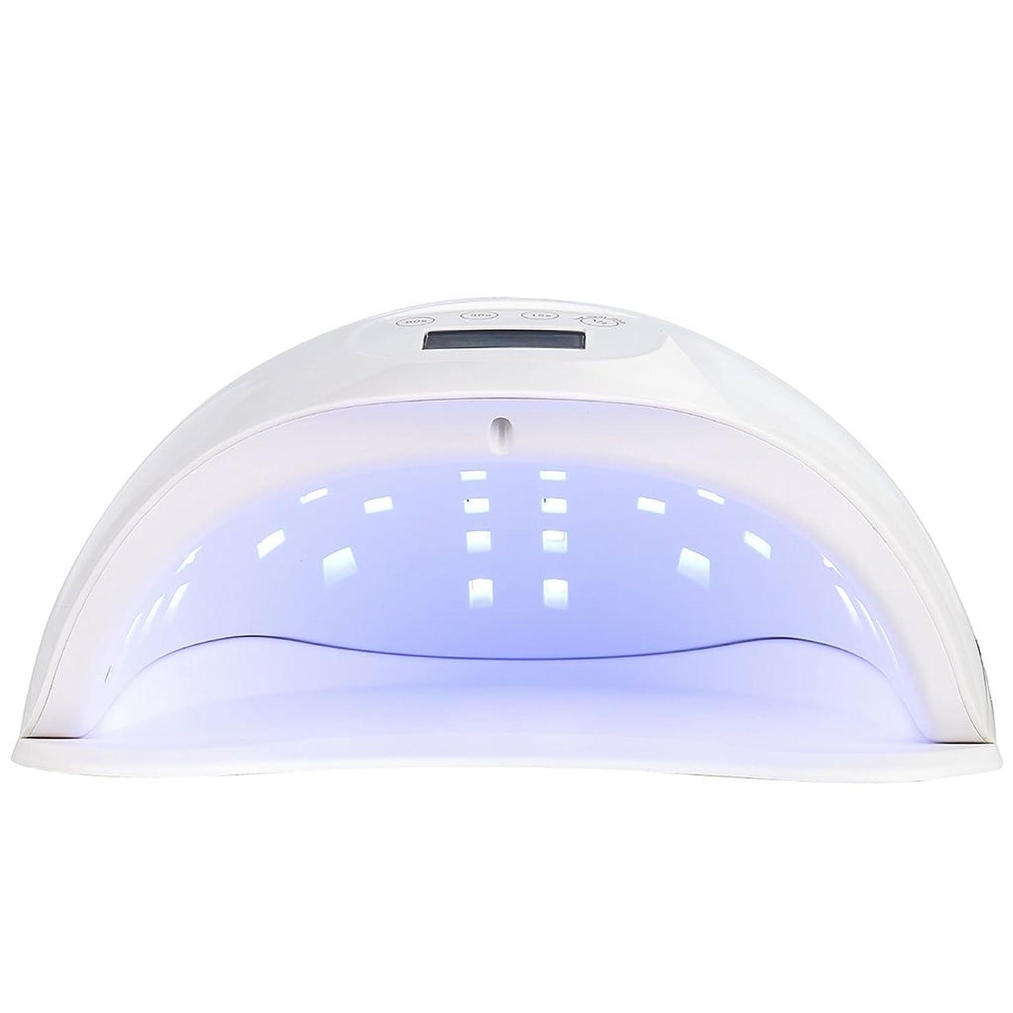 花ペデスタル弱いネイル光線療法機 ネイルドライヤー - ネイル光線治療装置LEDネイルマシン48W痛いランプ