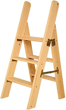 Wtbew-u Folding Steps  Solid Wood Step Stool Ladder Multi-function Stairway Chair For Household Climbing  Size steps