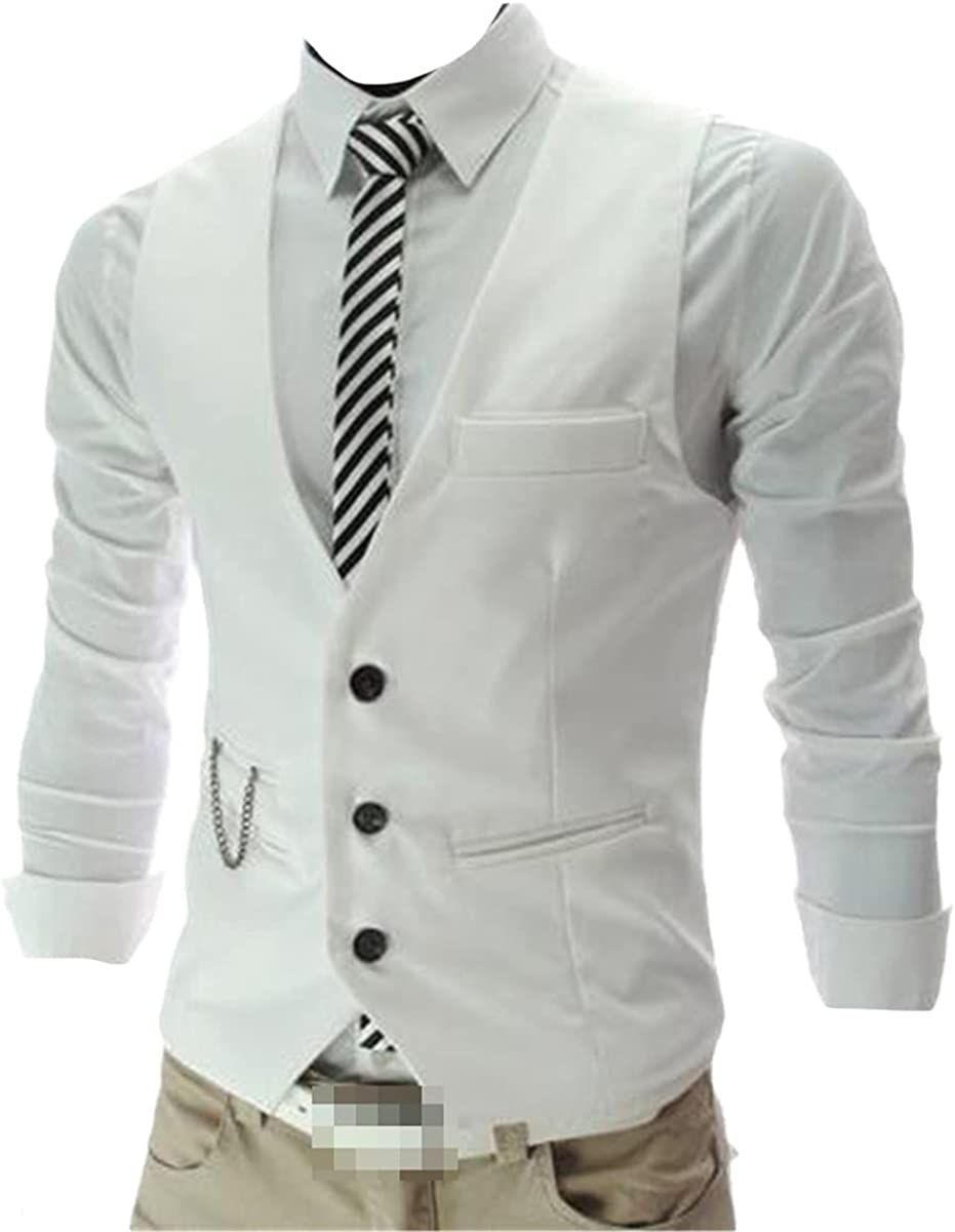 Men's arrival dress vest Slim fit suit vest casual sleeveless formal business jacket
