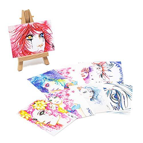 Manga Karten Mystery Booster | Sammelkarten | Aquarell | Comic | Handgemalt von Christina Nguyen