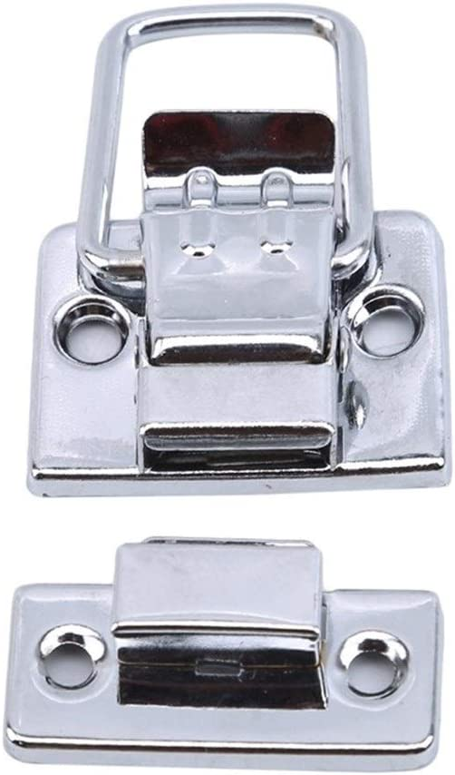 TMP1105 Hardware Limited price sale Chrome Adjustable Concealed Lock Max 76% OFF Hasp Toolbox C