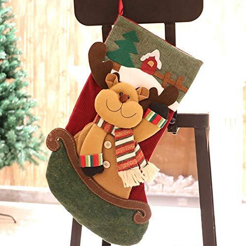 SOHOH Personalisierte Deluxe Sankt-Strumpf Hängen Geschenk-Beutel-Boot-Socke, gestrickte Wollsocken Weihnachtsbaum Ornamente, Weihnachten Weinlese-Kind-Geschenk-Süßigkeit Keks Choclate Furit Pouch