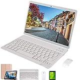 tablet 10 pollici con tastiera,64gb rom 4gb ram 4g wifi octa-core,android 9.0 dual sim,dual fotocamera voukou s9 (oro con tastiera)