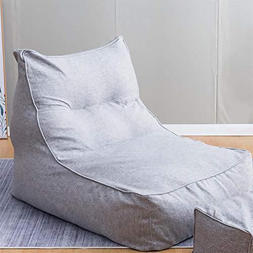 ZYSTMCQZ Cubierta de sofá de Silla de Bolso de algodón y Frijol Perezoso, sofá de Asiento reclinable de Color sólido sin Relleno, Utilizado para la reunión de Juegos de Oficina en casa