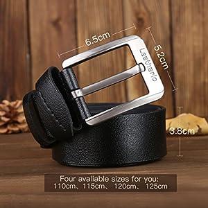 51covP2UNmL. SS300  - Leathario Hombres Cinturón de Cuero Correa Cinturones de Piel Diseñado para caballero