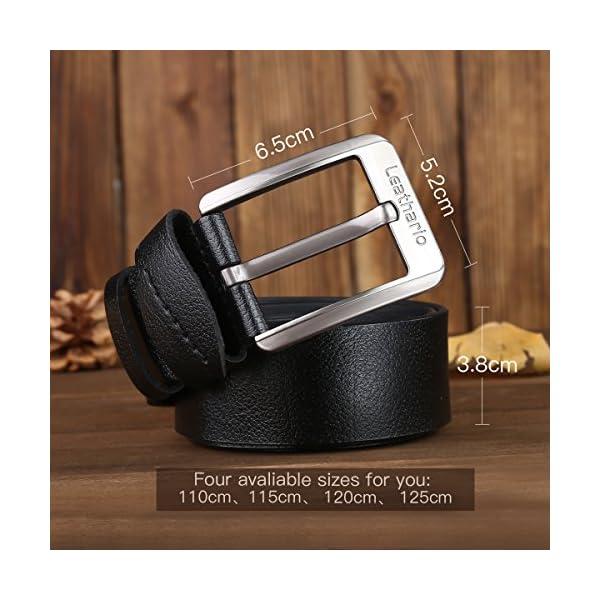 51covP2UNmL. SS600  - Leathario Hombres Cinturón de Cuero Correa Cinturones de Piel Diseñado para caballero