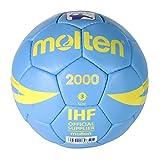 Molten H3X2000 - Ballon de Handball, Couleur Bleu Ciel, Taille 3