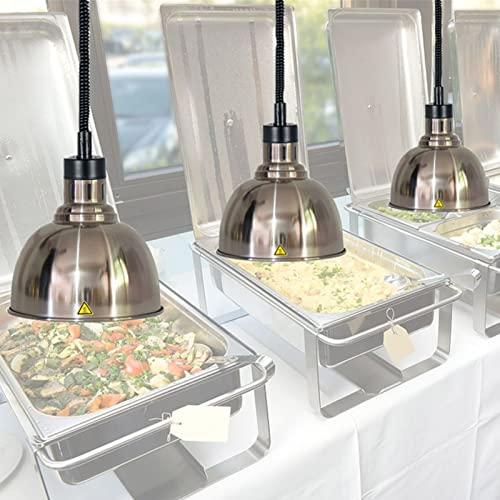 DevileLover 3-pcs Lámpara de Calentamiento de Alimentos para Buffet,Alimentos preservación del Calor lámpara,El Calor lámpara luz del calientaplatos,Mantenga la Comida Fresca y Deliciosa,250W-110V