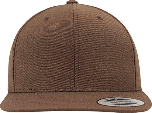 Flexfit Classic Snapback Cap, Mütze Unisex Kappe für Damen und Herren, One Size, Farbe tan