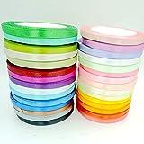 Jammas 30yards Ribbon 30 Colors 6mm Satin Ribbon Mix Satin Ruban Tapes for Gift Packing nastro Raso Cinta Scrapbooking Accessories