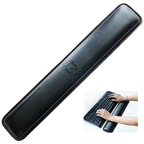 EXCO Keyboard Handballenauflage für Tastatur und Maus Handballenauflage, Wasserdichtes Leder,VerhindertSehnenscheidenentzündungen
