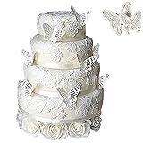 TININNA 2 Stück Kunststoff Schmetterling Ausstecher Kuchenschneider Kuchenform Keksform Pralinenformen Fondant Schneidgeräte EINWEG Verpackung