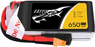 Tattu LiPo Battery 650mAh 11.1V 75C 3S Lipo Battery Pack with XT30 Plug for Multi Rotor FPV from Size 90 to 180 Torrent 110 Lizard 95