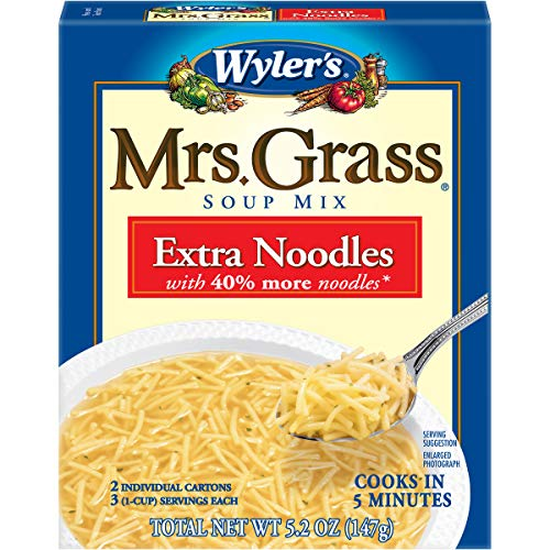 Mrs. Grass Extra Noodles Soup Mix (5.2 oz Boxes, Pack of 12)