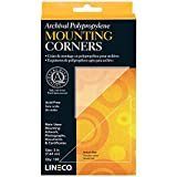 Lineco Self-Adhesive Polypropylene Mounting Corners - 3' Clear (100/Pkg.), Standard View