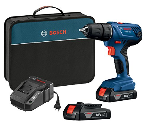 Big Save! Bosch 18V Compact 1/2 Drill/Driver Kit with (2) 1.5 Ah Slim Pack Batteries GSR18V-190B22