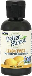 NOW Foods, Better Stevia Liquid, Lemon Twist, Zero-Calorie Liquid Sweetener, Low Glycemic Impact, Certified Non-GMO, 2-Ounce