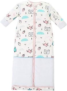 KINDOYO Baby Wearable Sleeping Bag - Cute Printed Breathable Removable Sleevees Unisex Child Suitable Four Season Sleep Sack