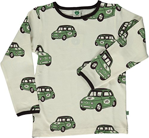 Smafolk Langarm Auto T-Shirt - Creme - 86-92cm - 1-2 Years