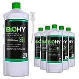 BiOHY Detersivo per pavimenti per robot di pulizia (6 bottiglie da 1l) + Distributore | Concentrato per tutti i robot di pulizia e aspirazione (Bodenreiniger für Wischroboter)