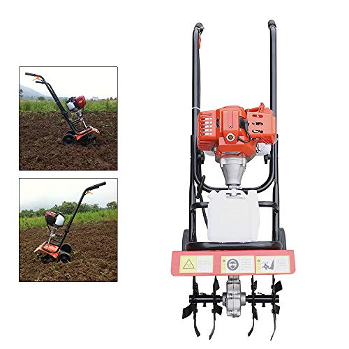 Best Price Hand-Pull Recoil Hand Push Soil Micro Tiller ZN-8001 1F44F-5 Engine 52CC Cordless Cultiva...