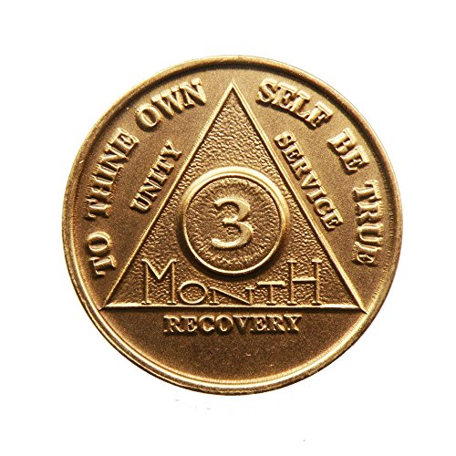 3 Month Bronze AA (Alcoholics Anonymous) - Sobriety / Birthday / Anniversary / Recovery / Medallion / Coin / Chip