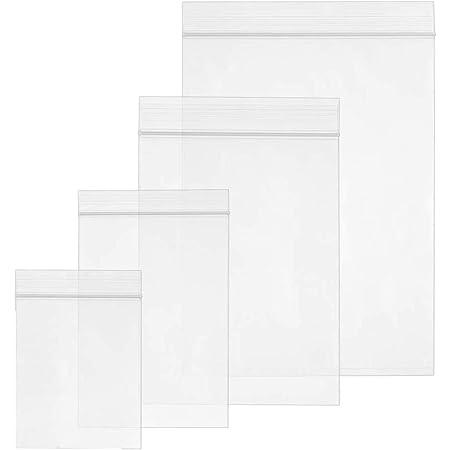 10 x 25 cm 100 bolsas de pl/ástico con cierre de cremallera transparente