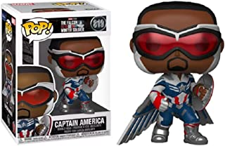 Funko Pop! Falcon and The Winter Soldier Captain America Wings Action Pose Exclusive 819