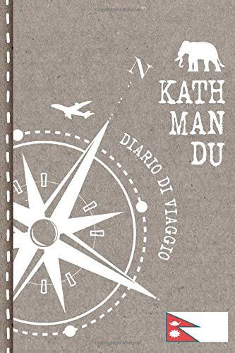 Kathmandu Diario di Viaggio: Journal dotted A5 per Scrivere Appunti, Disegnare, Ricordi, Quaderno da Disegno, Dot Grid Giornalino, Bucket List – Libro Attività per Viaggi e Vacanze Viaggiatore