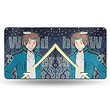 World Trigger Jin Yuichi License Plate 3D Cartoon Anime Decorative License Plate Frame 6Inx12In