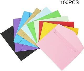 Kbnian 100 Piezas Mini Sobres de Papel, Sobres Personalizados, 10 Colores para Tarjetas de Felicitación e Invitación de Fiestas, Cumpleaños, 11.5 * 8cm