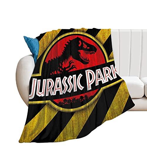 Jurassic Park Manta de anime ultra suave colcha de microfibra polar manta para sofá cama decoración del hogar 150 x 200