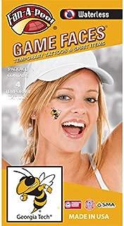 Georgia Tech (GT) Yellow Jackets – Waterless Peel & Stick Temporary Spirit Tattoos – 4-Piece – Gold/Black Buzz Logo