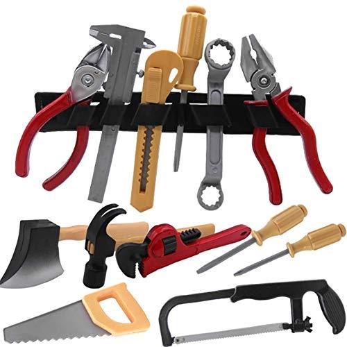 ZXD Werkzeugkasten und Zubehör Set Kinder-Werkbank Power Workbench Home Repair Tool Spielzeug-Set Unisex,14pcs