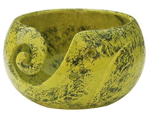 2020 - abhandicrafts - Ceramic Yarn Bowl for Knitting, Crochet for Moms - Beautiful Gift on All Occasions. A Perfect Gift for Moms and Grandmothers (Big Yarn_14)