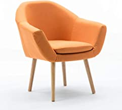 Armchair Simple Single Chair Bar Chair Living Room Bedroom Cafe Sofa Shop Reception Chair,Orange