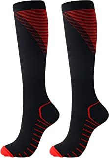 Compression Socks 15-20 mmHg for Men Women, Unisex Outdoor Sports Socks for Running, Cycling, Travel, Basketball