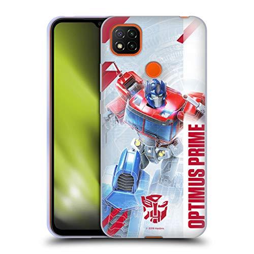 Head Case Designs Oficial Transformers Optimus Prime Arte Clave de Autobots Carcasa de Gel de Silicona Compatible con Xiaomi Redmi 9C