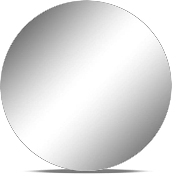 Round Mirror Wedding Table Centerpieces Sanded Egdes 10 Pieces 12 Inches