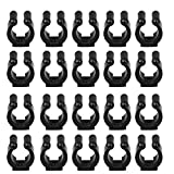 EEEKit 20-Pack Wall Mounted Fishing Rod Storage Clips Clamps Holder Rack Organizer, Fishing Pole Holder Clip Storage Rack