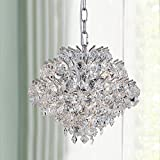 Bestier Modern Pendant Chandelier Crystal Raindrop Lighting Ceiling Light Fixture Lamp for Dining Room Bathroom Bedroom Livingroom 4 G9 Bulbs Required D11 in x H12 in
