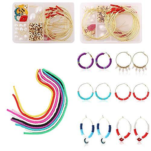 Queta DIY Schmuck Schmuck Basteln Set Jewelry Making Kit Armband Halskette Basteln Perlen Der Entdeckungen Macht Ohrringe Hooks Handmade Components böhmischen Ohrring