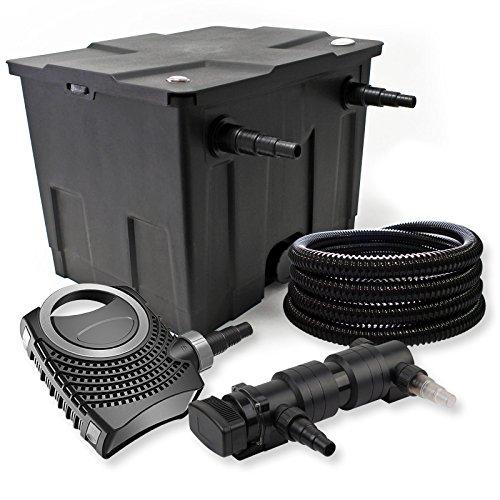 SunSun Kit de Filtration de Bassin 12000l 18W UVC 6. Stérilisateur NEO8000 70W Pompe Tuyau