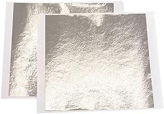 VGSEBA Imitation Gold Foil Sheets - 100 Pieces Atique-Silver Metal Papers for Gilding Crafts, Furniture Decorations, Arts ...