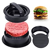 Burger Press, Different Size Hamburger Patty Molds, 3 in 1 Hamburger Patty Maker, Works Best for Stuffed Burgers, Sliders, Regular Beef Burger, Non Stick Kitchen Barbecue Tool Grilling Accessories