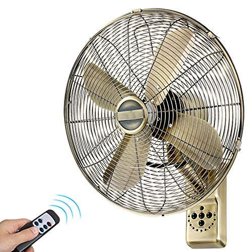 """BGSFS Retro Kupfer Wandventilator , 16""""Vintage antike oszillierende Wandventilator mit Fernbedienung, 7,5 Stunden Timer und 3 Lüfter Selectric Fan , Geeignet for Büros, Restaurants, Gewerbe"""